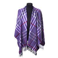 Палантин-пончо Женский 150 120 см Фиолетовый OD-1-5 purple, КОД: 304844
