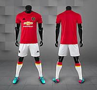 Футбольная форма Манчестер Юнайтед (Manchester United) 2019-2020 Домашняя (белые шорты), фото 1