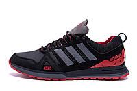 Мужские кожаные кроссовки Adidas A19 Red Star (реплика)