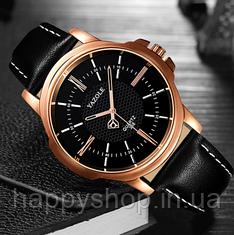 Мужские кварцевые часы YAZOLE classic (Черные)
