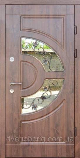 Входная дверь Форт Премиум Форт Греция Винорит Премиум со стеклопакетом
