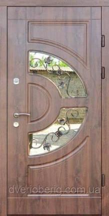 Входная дверь Форт Премиум Форт Греция Винорит Премиум со стеклопакетом, фото 2