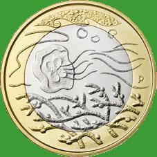 Финляндия 5 евро 2014 г. Северная природа - вода.