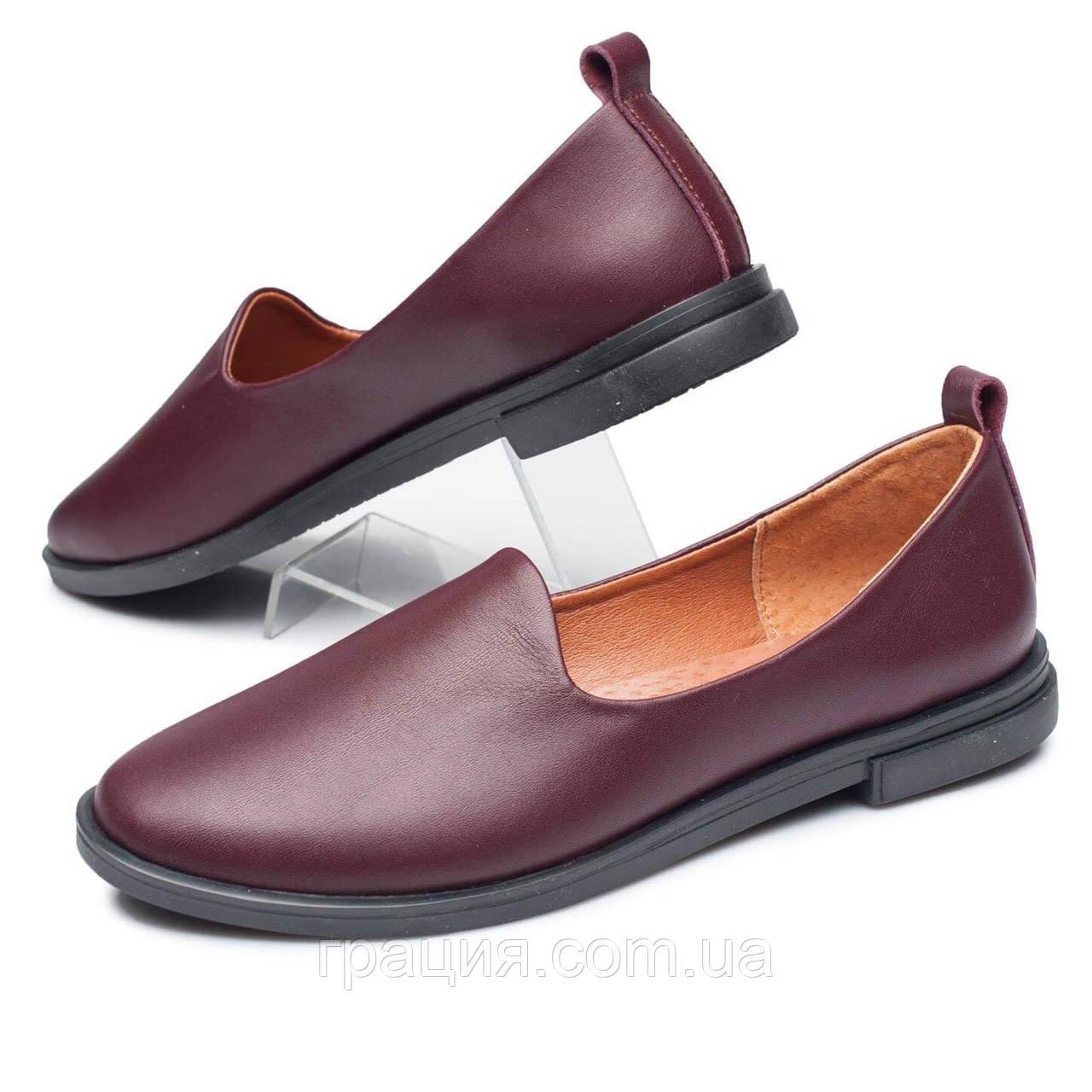 Кожаные женские модные туфли, мягкие, удобные.