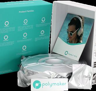 Пластик в котушці PETG PolyLite 1,75 мм, Polymaker, 1кг, фото 2