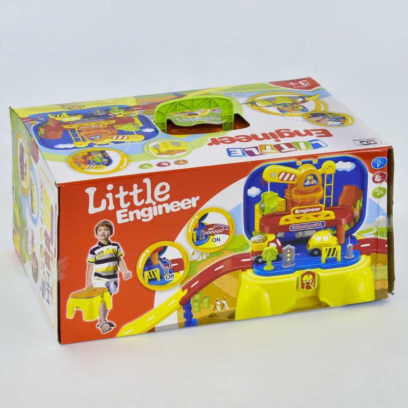 Автотрек 008-805 (8) звуковые и световые эффекты, на батарейке, в коробке