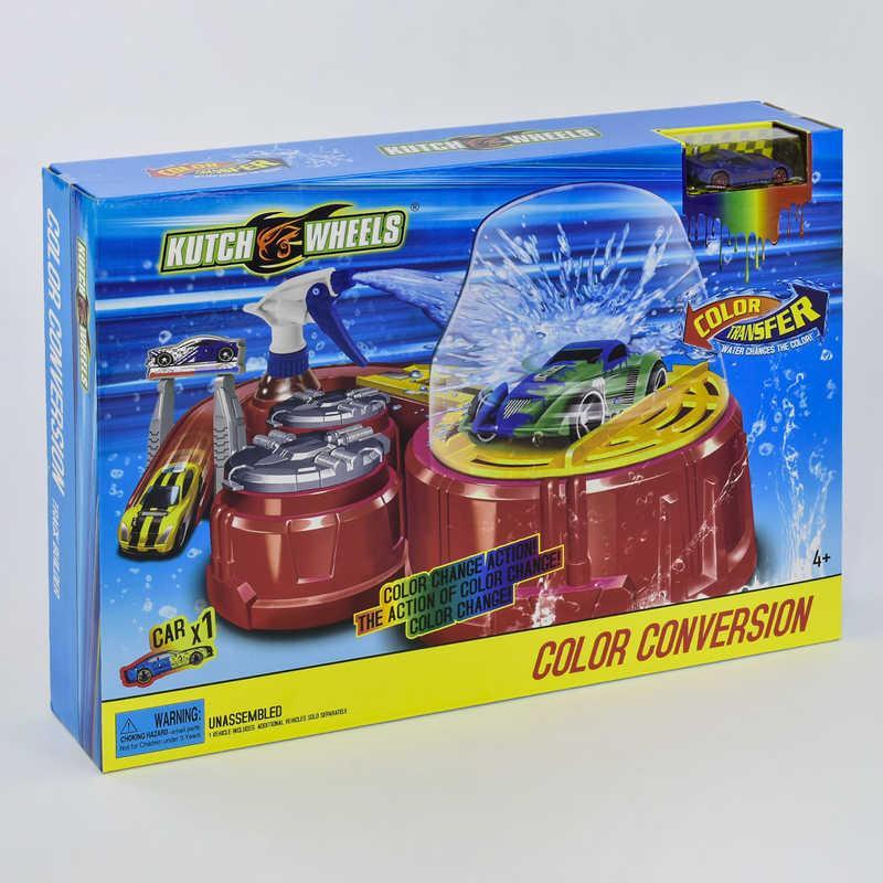 Автотрек Покраска авто S 8836 (18) машинка меняет цвет, в коробке