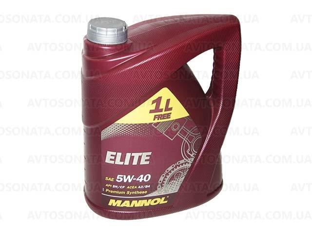 Масло моторное синтетика MANNOL Elite 5W-40 3+1L SN/CF
