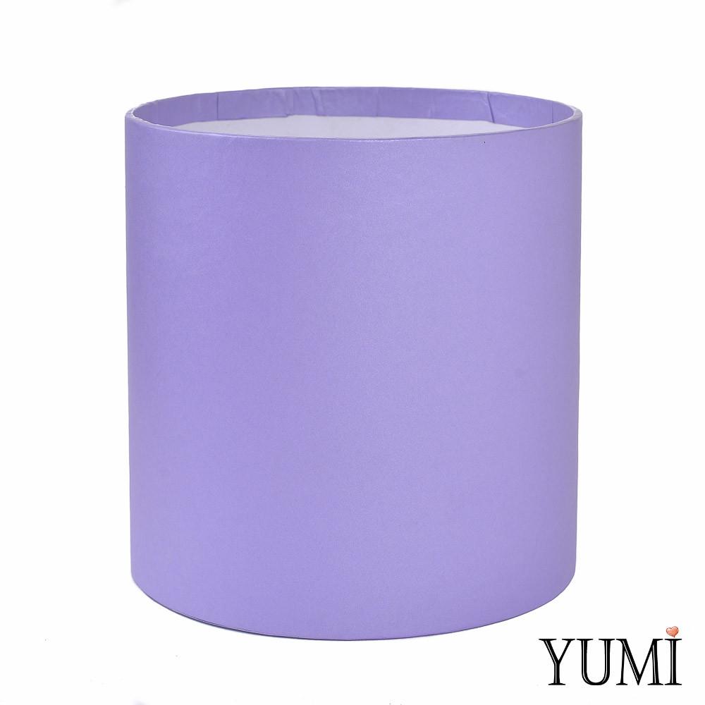 Шляпная коробка 16х16 см сиреневая (лавандовая) без крышки