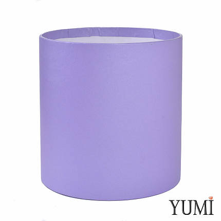 Шляпная коробка 16х16 см сиреневая (лавандовая) без крышки, фото 2