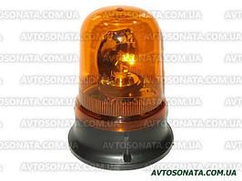 Мигалка  круглая TR 503-3 24V (H1/55W) желтая (на саморезах)