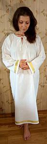 """Крестильная рубашка для взрослых. Модель """"Suzanne Gold"""" (""""Сузанна золото"""")"""
