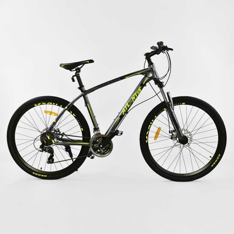 """Велосипед Спортивный CORSO ATLANTIS 27,5""""дюйма JYT 008 - 7266 GREY-YELLOW (1) рама алюминиевая 19``, 24 скорости, собран на 75%"""