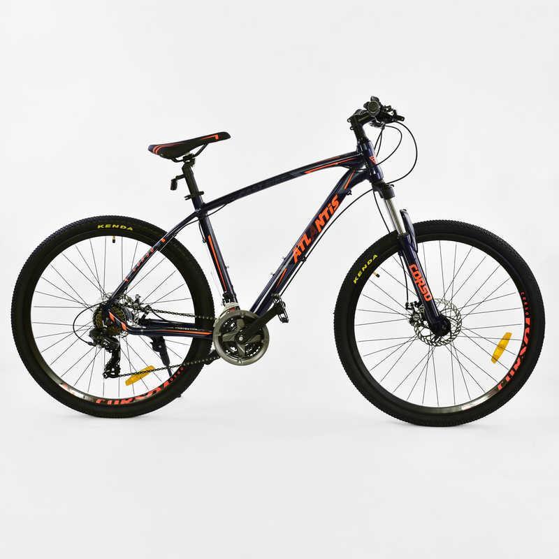 """Велосипед Спортивный CORSO ATLANTIS 27,5""""дюйма JYT 008 - 7308 BLACK-ORANGE (1) рама алюминиевая 19``, 24 скорости, собран на 75%"""
