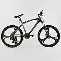 """Велосипед Спортивный CORSO EVOLUTION 26""""дюймов JYT 007 - 7277 BLACK-YELLOW (1) рама алюминиевая 17``, 24 скорости, собран на 75%"""