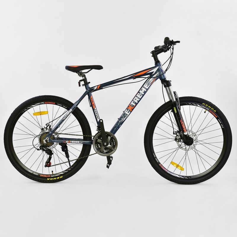 """Велосипед Спортивный CORSO EXTREME 26""""дюймов JYT 005 - 7889 BLUE (1) рама алюминиевая 17``, 21 скорость, собран на 75%"""