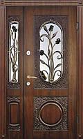 Полуторные двери термопласт 26