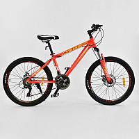 """Велосипед Спортивный CORSO STRANGE 24""""дюйма JYT 004 - 719 ORANGE (1) рама алюминиевая 13``, 21 скорость, собран на 75%"""