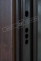 Входная дверь Двери Украины Кейс Сити орех Vinorit Riccardi, фото 3