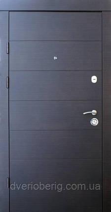 Вхідні двері Qdoors Преміум Горизонталь венге темний горизонталь, фото 2
