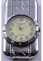 Зажигалка карманная с часами №3921 Серебро