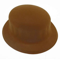 Шляпа Котелок флок коричневая