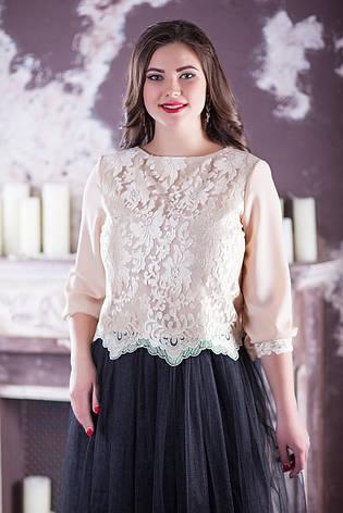 Нежная женская нарядная блузка для полных, фото 2