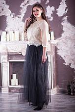 Нежная женская нарядная блузка для полных, фото 3