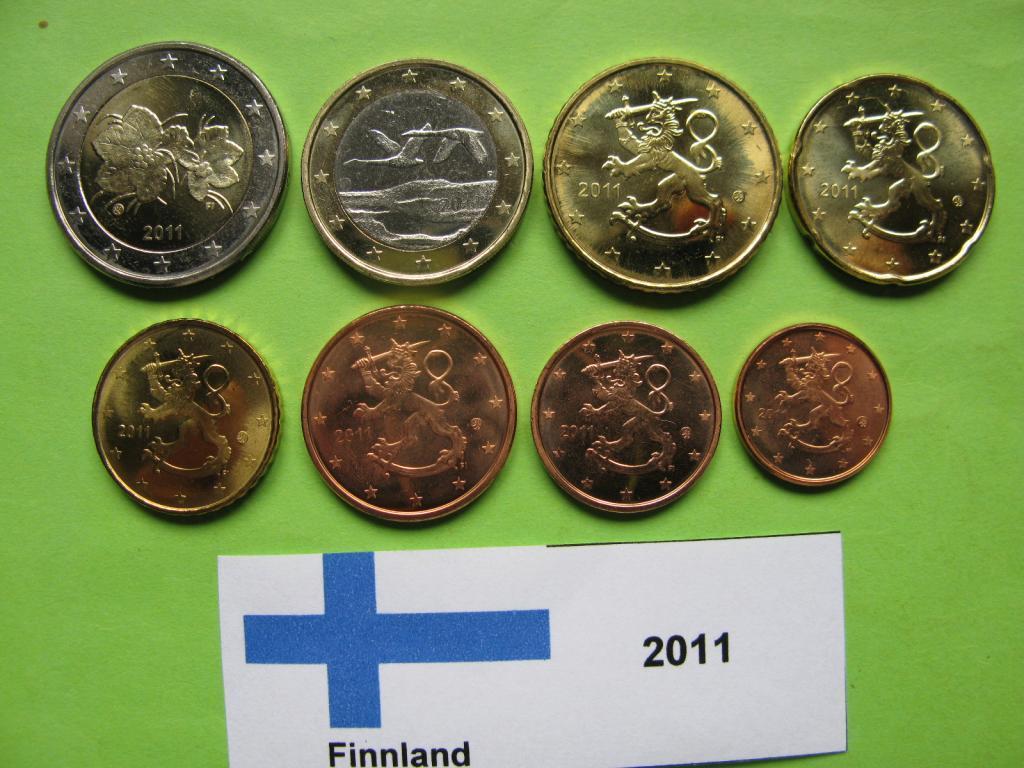Финляндия набор евро монет 2011 г. UNC