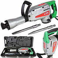 Отбойный молоток LEX LXR29 : 2900 Вт   Удар 650 Дж   Кейс + Зубило, долото в комлекте