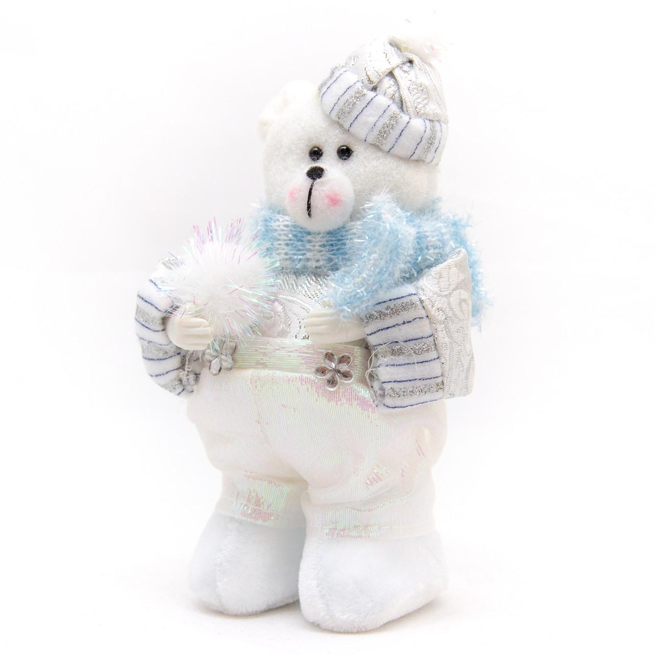 Елочная игрушка мягкая фигурка Медведь 15 см (180431-2)