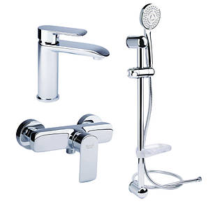 Набор смесителей для умывальника, ванны и душевая стойка Bianchi Joy KITJOY2019SMCRM