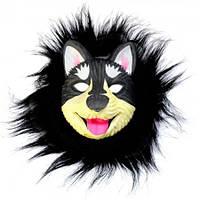 Маска виниловая собака Хаски черная