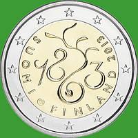 Финляндия 2 евро 2013 г. 150 лет парламенту. UNC