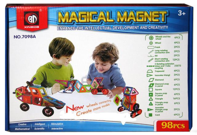 """Магнитный конструктор 7098A """"Транспорт"""", 98 детали купить"""