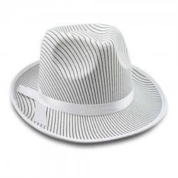Карнавальная шляпа мужская Мафия белая