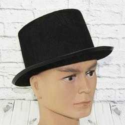 Шляпа Цилиндр из фетра черный