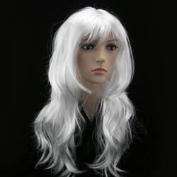 Парик белый волнистый  Снежная Королева