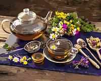 Картины по номерам 40×50 см. Травяной чай, фото 1