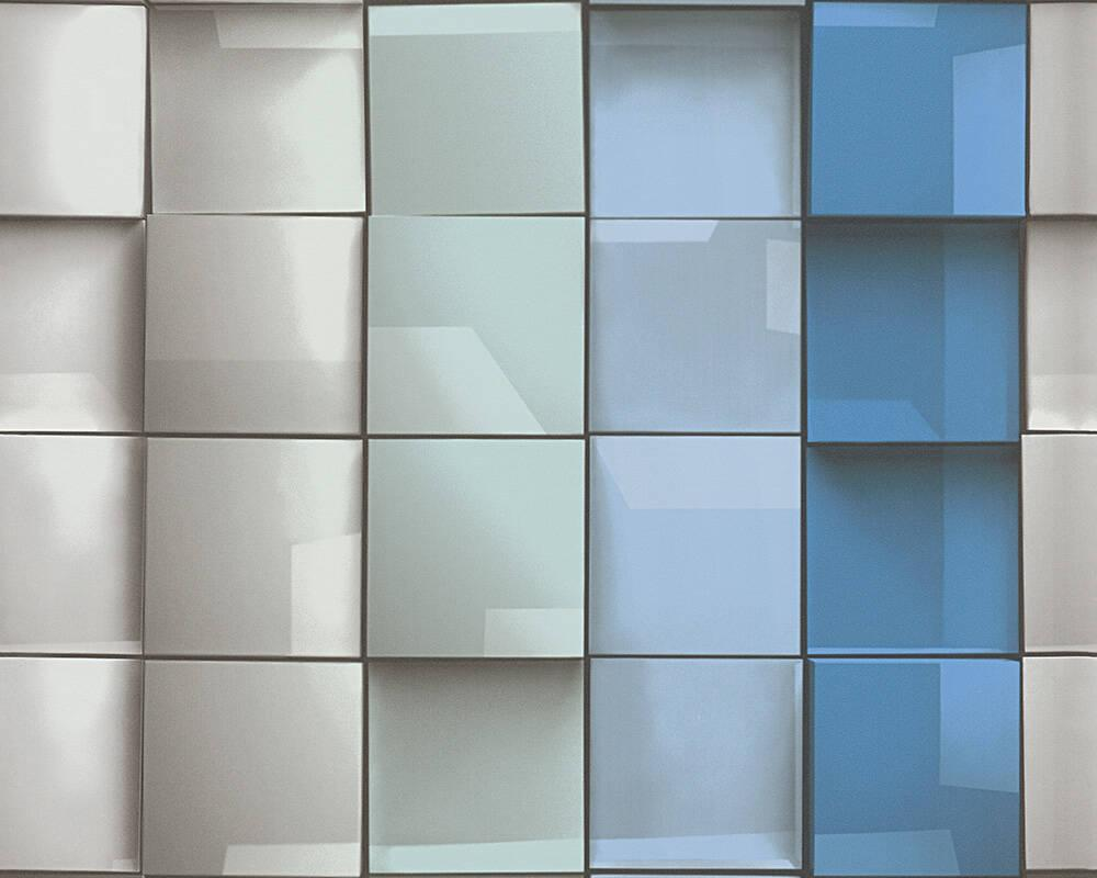 Стереоскопические дизайнерские обои Authentic 960201 с креативным 3д узором - объемная мозаика керамика плитки