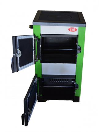 Котел твердотопливный Огонек Котв - 18 Пв кВт с плитой и водонагревательным контуром, фото 2
