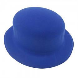 Шляпа Котелок флок синяя
