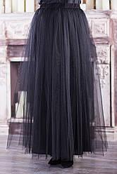 Длинная юбка фатин для полных нарядная