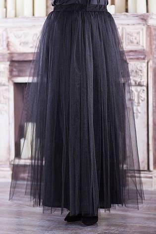 Длинная юбка фатин для полных нарядная, фото 2