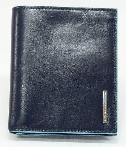 Кожаное портмоне Piquadro pu4859b2r blu2, мужское, синее