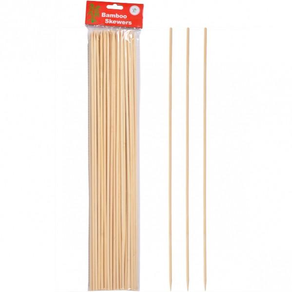 Бамбуковые палочки для барбекю и гриля 40см*4мм