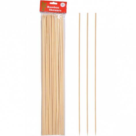 Бамбуковые палочки для барбекю и гриля 40см*4мм, фото 2