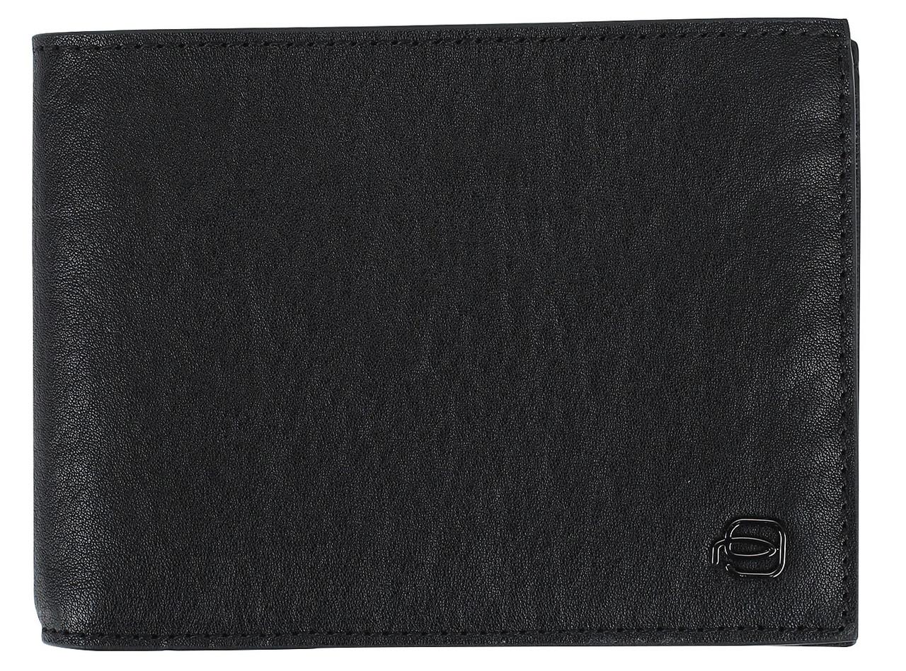 Мужское портмоне Piquadro pu257b3r n, кожаное, черное