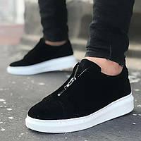 Мужские кроссовки Wagoon 02 Suede Black/White, фото 1