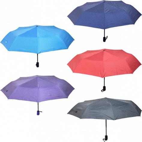 Зонтик складной автомат в горошек, фото 2